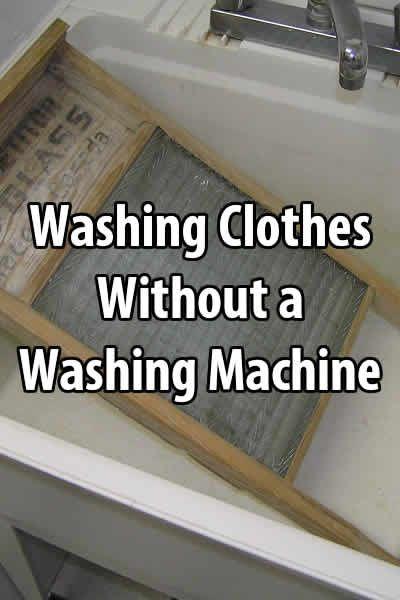 washing clothes without a washing machine