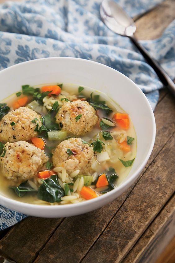 Cookbook Corner | Thug Kitchen Review.  White Bean Meatball Wedding Soup Recipe.  Omit oil.