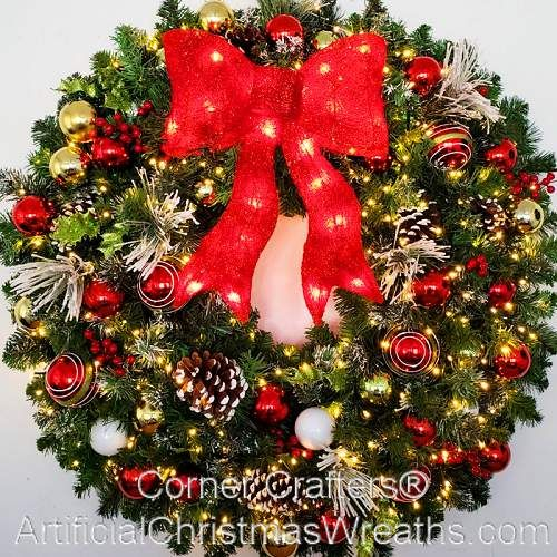 3 Foot Led Christmas Magic Wreath Artificialchristmaswreaths Com 36 Inch Free Shipping Commercial Grade Indoor Outdoor Large Christmas Wreath Pre Lit Christmas Wreaths Artificial Christmas Wreaths
