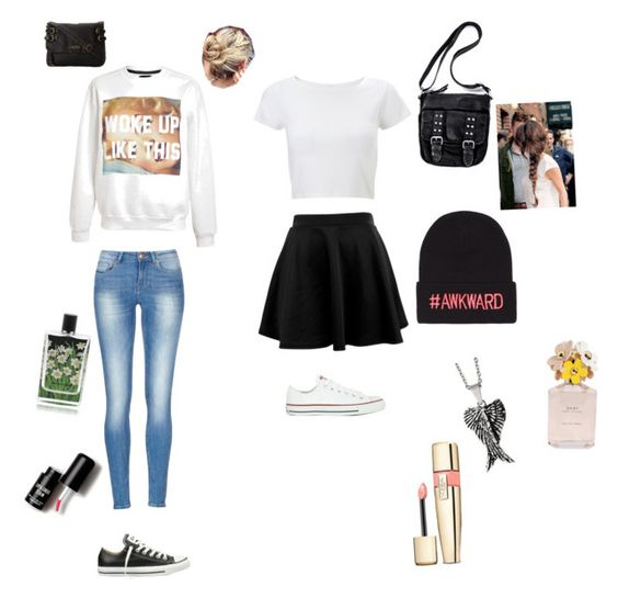 """""""..."""" by kleiney ❤ liked on Polyvore featuring Untitled & Co, Converse, Roxy, Lipsy, Reeds Jewelers, Nest Fragrances, Marc Jacobs and Love 21"""