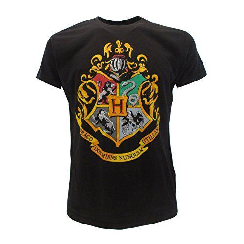 100/% Officiel Warner Bros T-Shirt Blason Maison SERPENTARD Harry Potter