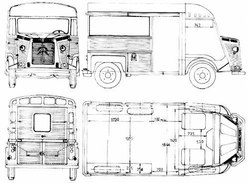 The blueprints cars citroen citroen for Food truck blueprints