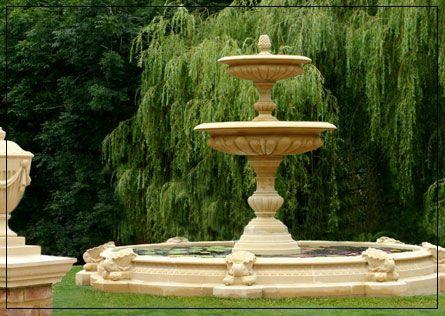 Two Tier Vermeer Garden Fountain
