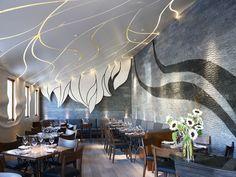 Commercial Interiors. Girasol Restaurant in Los Angeles. Designer: Gulla Jonsdottir.