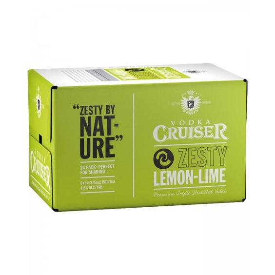 Rượu Trái Cây Vodka Cruiser Zesty Lemon & Lime 4,6%