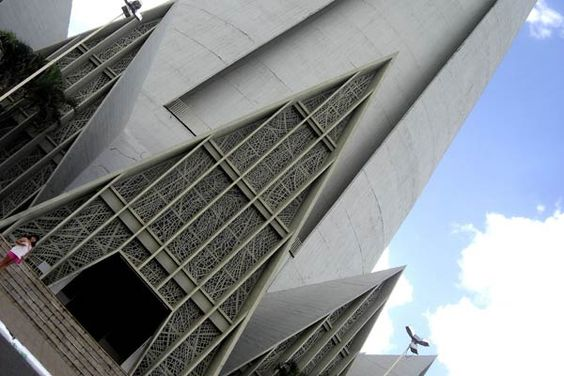 This is a Roman Catholic cathedral located in downtown Maringá, Paraná, Brazil, measuring 124 m high. It was completed in 1972 and is the tallest church in South America and the 16th tallest in the world.