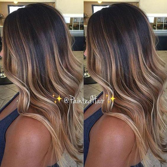 17 Best Caramel Balayage Hair Color Ideas Black Hair Balayage Hair Styles Hair Highlights