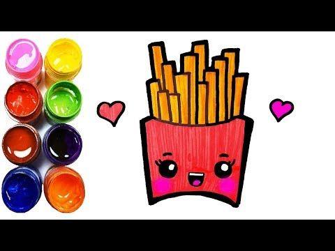 Come Disegnare Divertenti Patatine Fritte Per Bambini Disegni Da