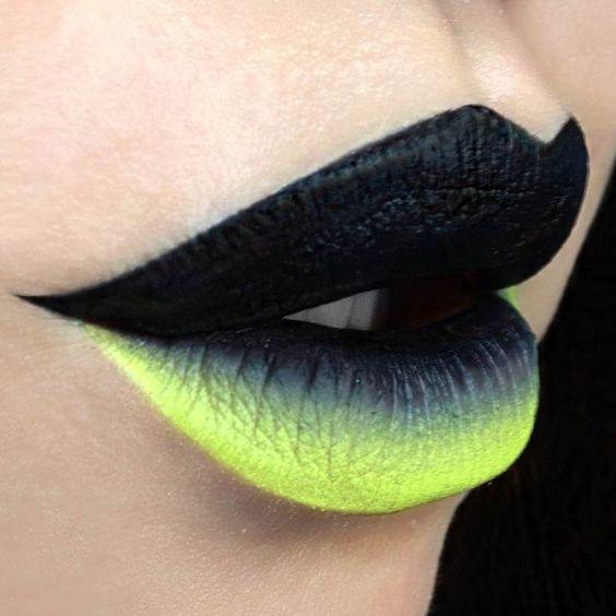 Halloween makeup   fierce alien queen lips - christina parga [depechegurl | instagram]