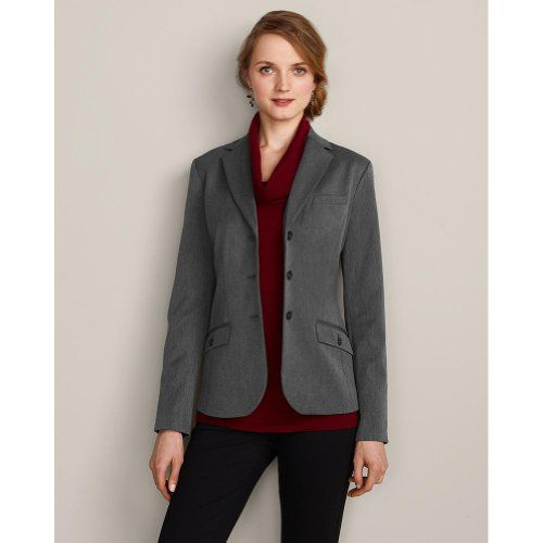Eddie Bauer Womens Washable Stretch Classic Blazer, Charcoal 4 ...