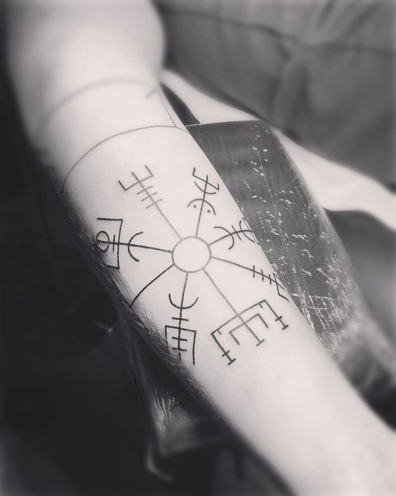 Vegvisir - The Viking Compass tattoo