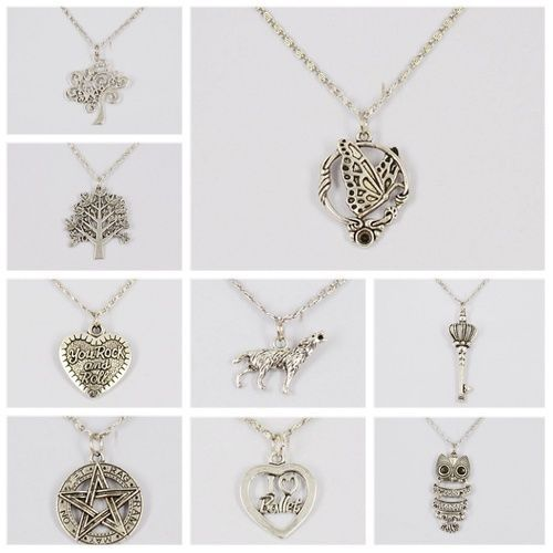 Women Fashion vintage silver chain Design Owl,Tree, Pendant  Chocker Necklaces #cheapfine #fashion