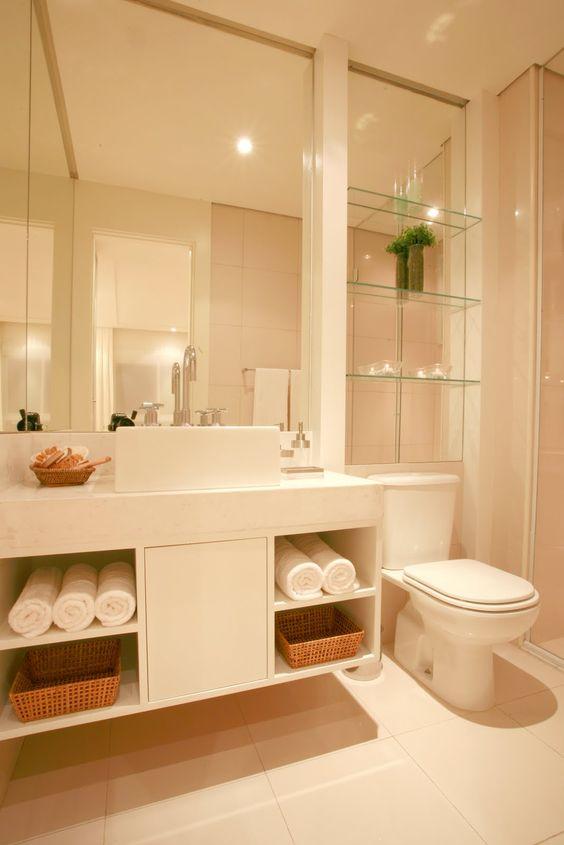 banheiro  Decoração & obra  Pinterest  Banheiros, Decoração de banheir -> Gabinete De Banheiro Para Apartamento