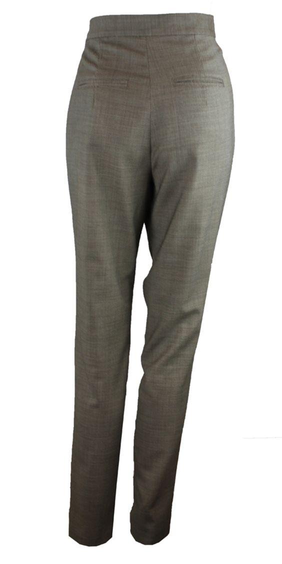 Drape Front Trouser- Birdseye on TROVEA.COM