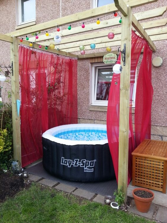 Inflatable Hot Tub and Pergola