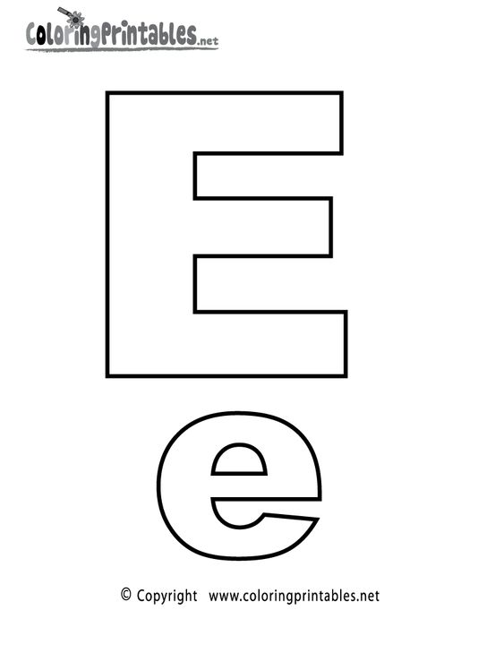 Alphabet Letter E Coloring Page - A Free English Coloring ...