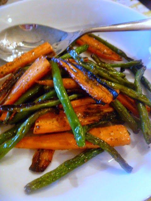 It S Carrot Season Ginger Glazed Roasted Carrots Green Beans In