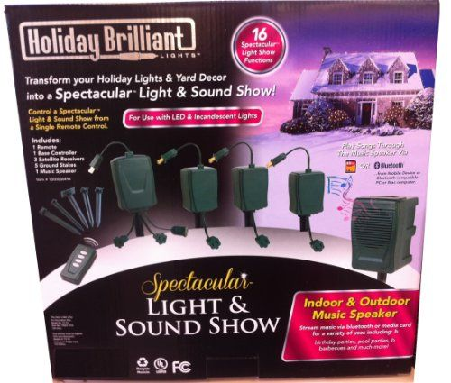 Bluetooth Holiday Lighshow with Sound Christmas Outdoor Display ...