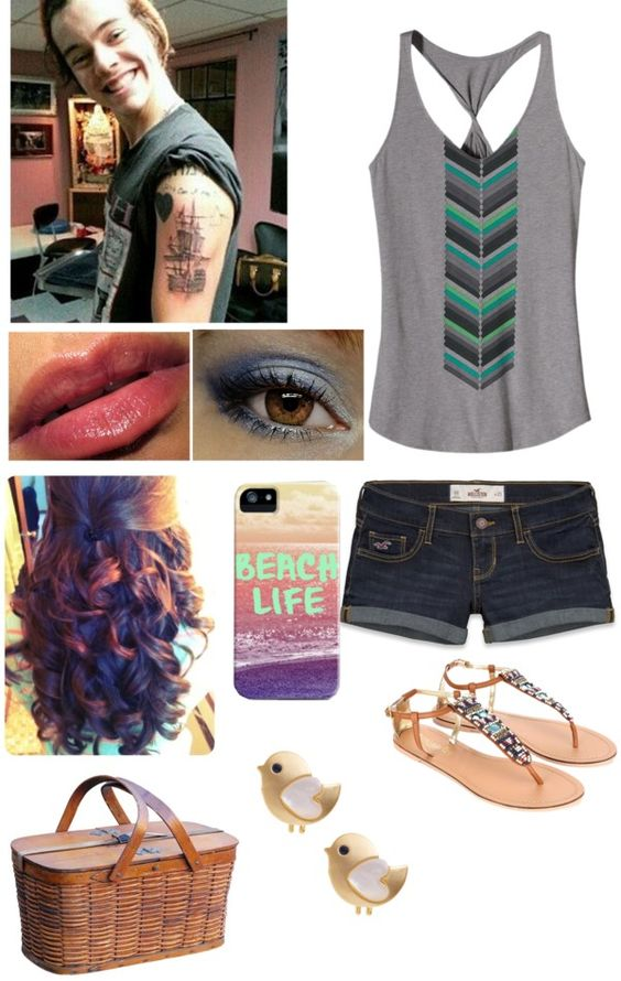 """""""romantic picnic with harry"""" by jessie-horan ❤ liked on Polyvore"""