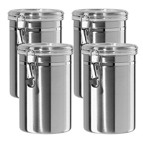Deppon Airtight Container Set Airtight Canisters Food Storage Containers Stainless Steel Canister Set