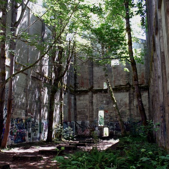Abandoned Buildings In Oahu: Abandoned Mill, Vernonia Oregon A Great Pic