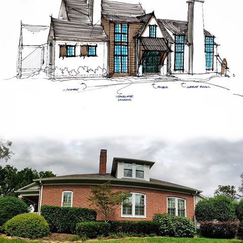 Our Client Came To Us Wanting A New Look For Their Home Along With A More Usable Floor Plan Shawn S Vision Is Al Custom Home Designs Custom Homes House Styles