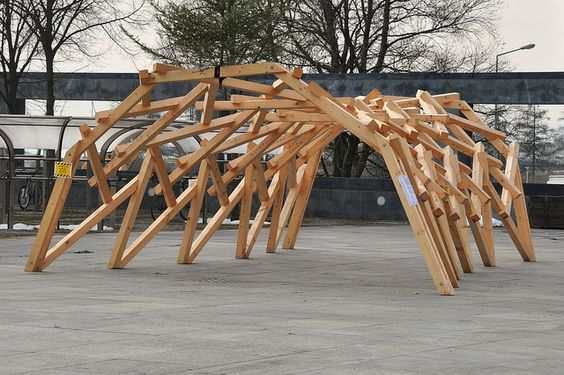 Reciprocal frame structure by Annette Spiro at ETH Zurich: