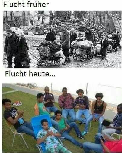 ein Land das gelitten hat und total zerstört war, sollte doch den Unterschied zwischen Flüchtlingen und Schmarotzer kennen!!!! Was ist bloß passiert dass wir uns so blenden lassen???