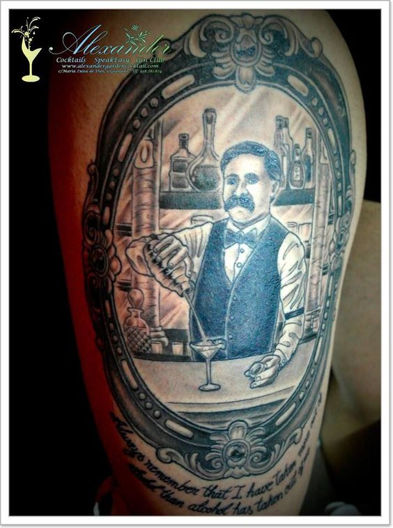 Bartender 39 s tattoo bartenders and cocktails pinterest for Ink craft tattoo