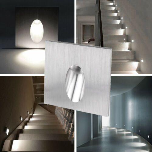 4x 1w Led Encastrable Mural Lampe Escalier Couloir Spot Eclairage Corridor 220v Ebay Led Encastrable Escalier Eclairage Encastre