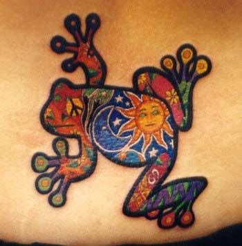Love this frog tattoo.