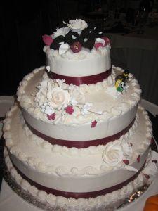 Pastel de boda de otoño