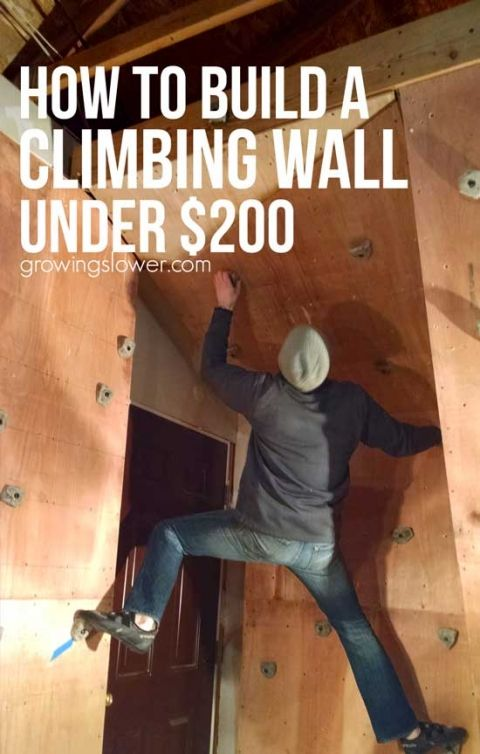 How To Build The Ultimate Home Climbing Wall Under $200 | Rock Climbing,  DIY Tutorial And Backyard