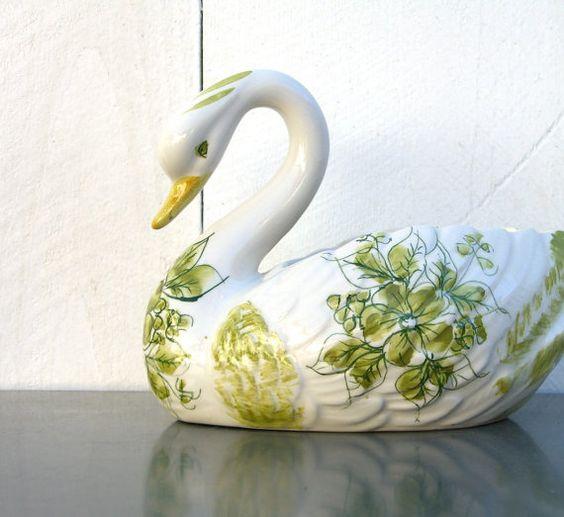 Vintage Swan  Made In Portugal by silverandbone on Etsy, $12.50