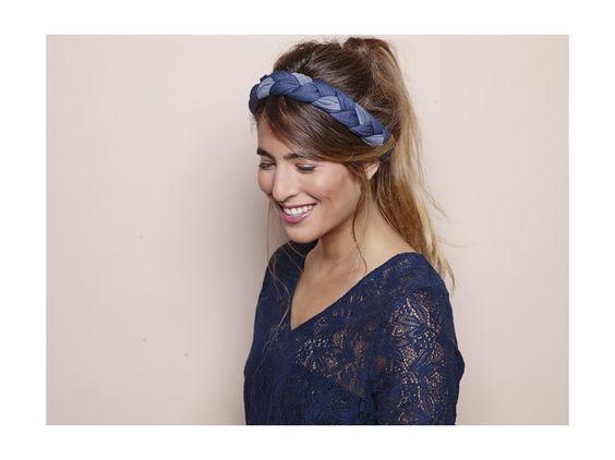 #adeliparis #headband #braid #andrea #denim
