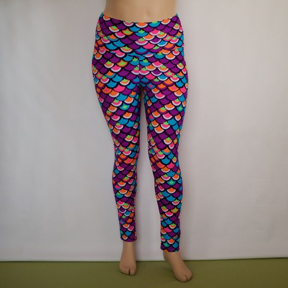 Yeah, i want these too.  I am enjoying Yoga and i am going to need some warmer leggings for winter. Plus Size Classic Legging (Mermaid)