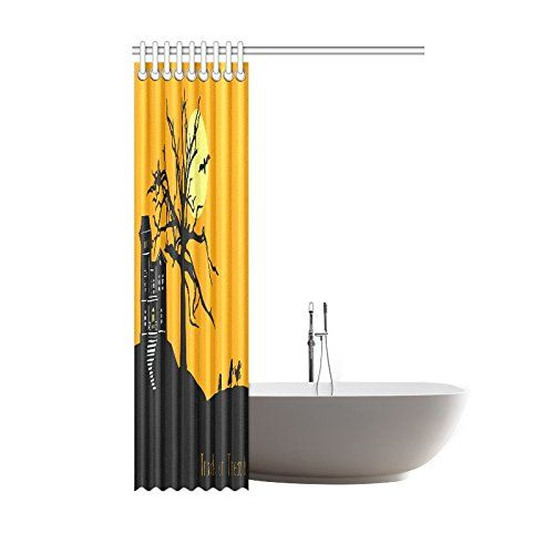 Happy Halloweens Day Gifts Waterproof Bathroom Decor Fabric Shower