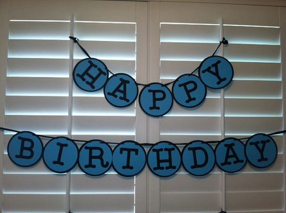 Birthday banner for boy or girl, can be customized to any color ...