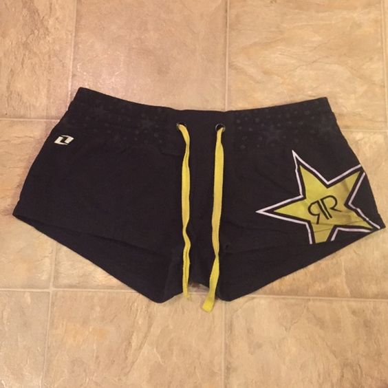 Rockstar Energy Cotton Shorts Rockstar Energy Drink black cotton shorts!! Size Medium. Super comfy. NO TRADES. Rockstar Energy Drink Shorts