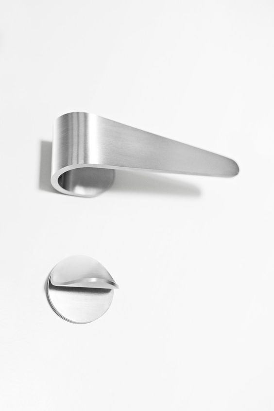 Stainless Steel Door Handle With Lock Fold Design Tord Boontje Formani Details Interior
