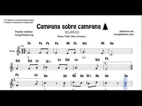 Partituras Villancicos Para Flauta Partituras Villancico Villancico De Las Campanas