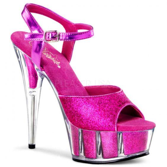 Delight-609-5g Hot Pink 6&quot Heels - Bow &amp Arrow   Bowandarrow