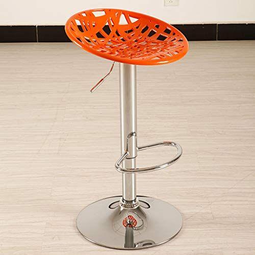 Ccf Beauty Salon High Stool Chair Lift Bar Bar Chair Back Bar Chair Reception Desk Rotation V Color Orange High Stool Stool Chair Swivel Chair