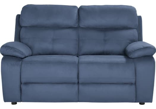 Corinne Blue 5 Pc Living Room With Reclining Sofa Love Seat Reclining Sofa Blue Loveseat
