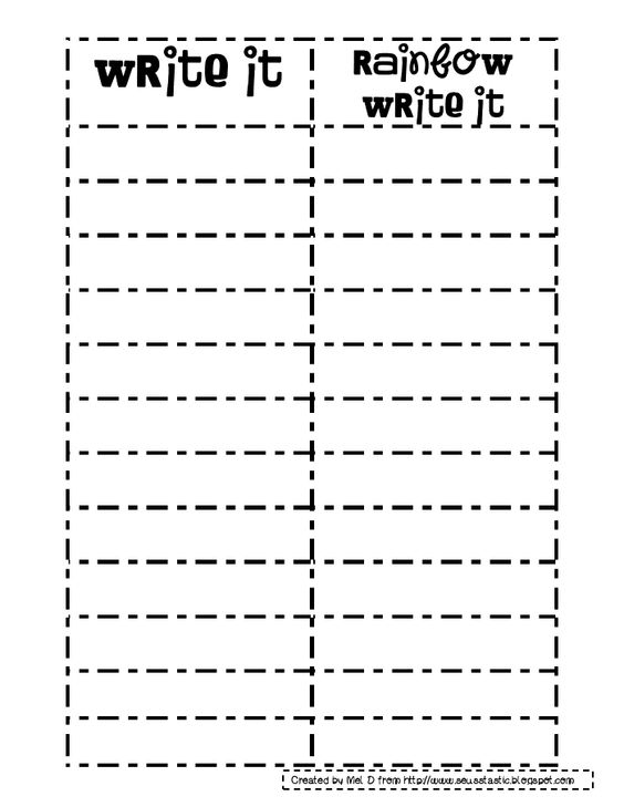 Collection of Rainbow Writing Worksheets Sharebrowse – Words Their Way Worksheets