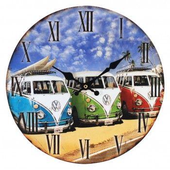 Reloj Campervan pared retro Kombi Volkswagen