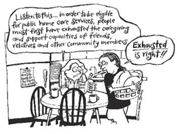 Cartoons About Caregiving   let s consider the example of caregiving in canada caregiving is often ...