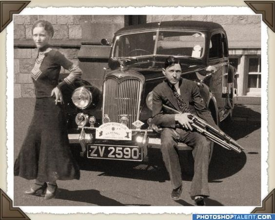 photos of bonnie and clyde   also featured are items found ...
