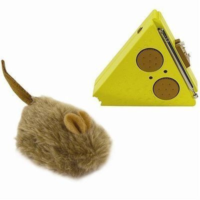 $22.27-$9.99 This multi-directional remote-controlled mouse toy puts the fun of a mouse chase in your hands while boosting your cat's activity level.