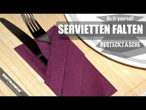 servietten falten anleitung bestecktasche diy napkin. Black Bedroom Furniture Sets. Home Design Ideas